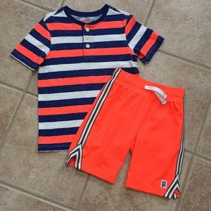 OshKosh Carter's Striped Tee Shirt & Shorts Set